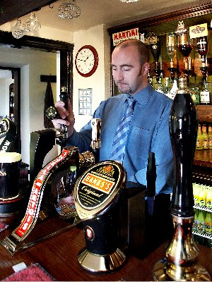 bar worker at the stanley arms
