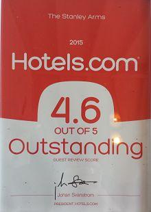 hotels.com award certificate 2015